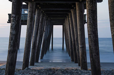 Under The 14th Street Pier - Ocean City New Jersey Art Print by Bill Cannon
