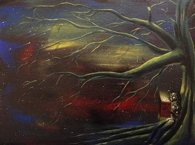 Painting - Under The Akashic Tree by Sean Ivy aka Afro Art Ivy