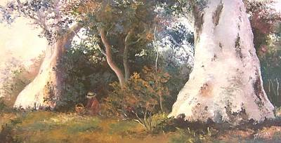 Autumn Scenes Painting - Under The Ancient Gum Tees by Jan Matson