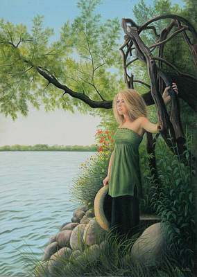 Soulful Painting - Under The Arbor by Holly Kallie
