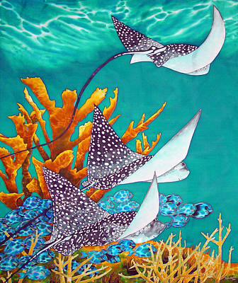 Under The Bahamian Sea Art Print by Daniel Jean-Baptiste