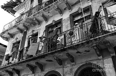 Photograph - Under The Balcony Mono by John Rizzuto