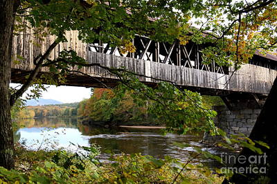Photograph - Under The Blair Covered Bridge by Kerri Mortenson