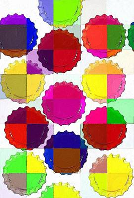 Bottlecap Painting - Under The Blanket Of Colors by Florian Rodarte