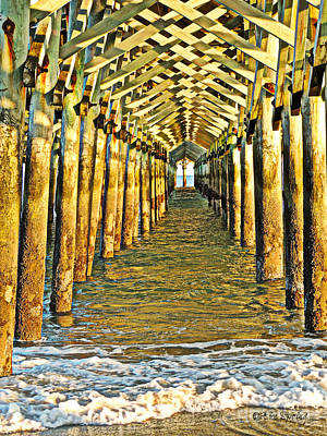 Under The Boardwalk - Hdr Art Print