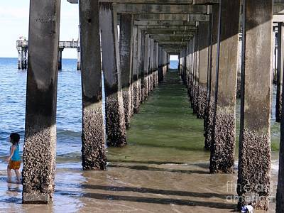 Under The Boardwalk Art Print by Ed Weidman