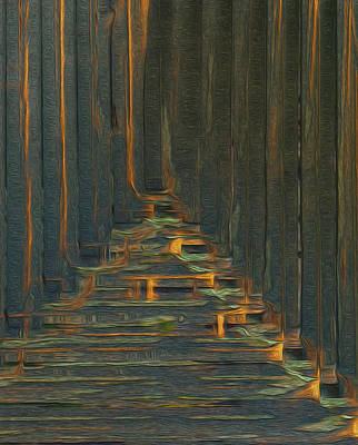 Computer Art Painting - Under The Boardwalk by Jack Zulli