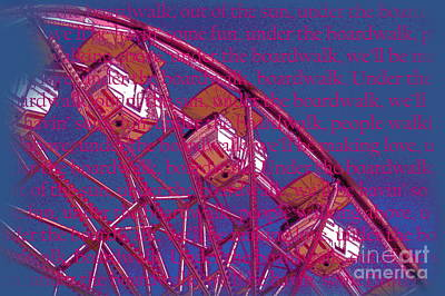 Photograph - Under The Boardwalk Word Art by Tamyra Crossley