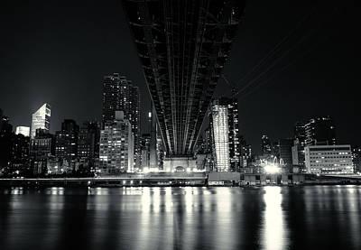 Under The Bridge - New York City Skyline And 59th Street Bridge Print by Vivienne Gucwa