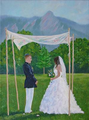 Painting - Under The Chuppah by Margaret Bobb