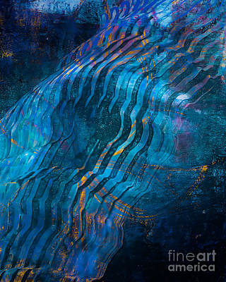 Printmaking Mixed Media - Under The Depths by Laura L Leatherwood