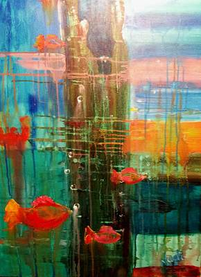 Painting - Under The Dock by Renate Nadi Wesley