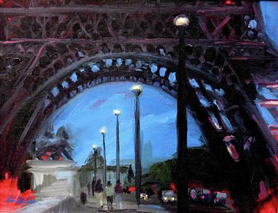 Painting - Under The Eiffel by Erin Rickelton