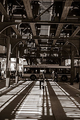 Photograph - Under The El Chicago Vertical  by John McGraw