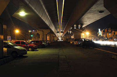 Under The Flyover  Art Print by Sumit Mehndiratta