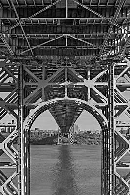 Politicians Royalty-Free and Rights-Managed Images - Under The George Washington Bridge I BW by Susan Candelario
