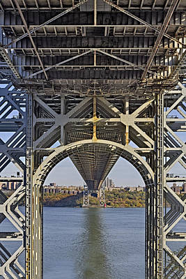 Autumn Photograph - Under The George Washington Bridge I by Susan Candelario