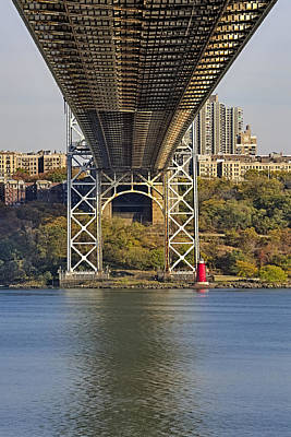 Politicians Royalty-Free and Rights-Managed Images - Under The George Washington Bridge II by Susan Candelario