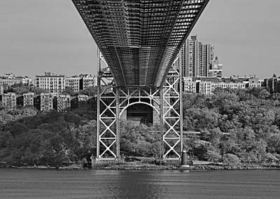 Politicians Royalty-Free and Rights-Managed Images - Under The George Washington Bridge III BW by Susan Candelario