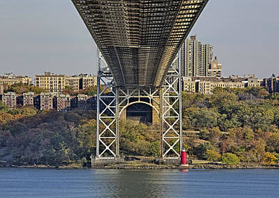 Politicians Royalty-Free and Rights-Managed Images - Under The George Washington Bridge III by Susan Candelario