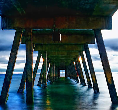 Photograph - Under The Glenelg Jetty by Paul Svensen