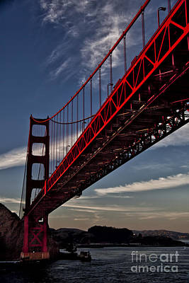 Photograph - Under The Golden Gate by Shirley Mangini