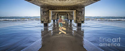 Photograph - Under The Hanalei Pier Kauai by Dustin K Ryan