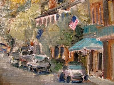 Natchez Painting - Under-the-hill by Susan E Jones