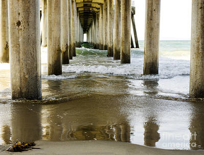 Photograph - Under The Huntington Beach Pier by MaryJane Armstrong