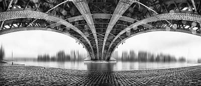 Abstract Skyline Wall Art - Photograph - Under The Iron Bridge by