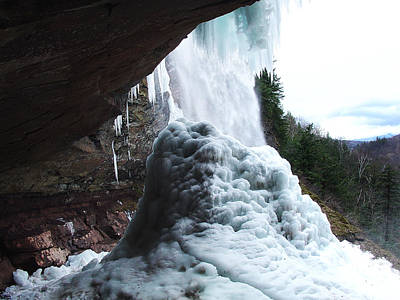 Photograph - Under The Kaaterskill Falls As March Thaws The Winter Ice Cone 2009 by Terrance DePietro