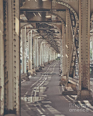 Ally Photograph - Under The L In Chicago by Emily Kay