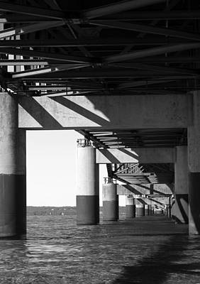 Photograph - Under The Mac 3 Bw by Mary Bedy