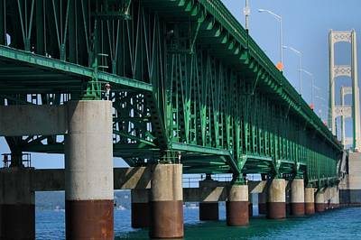 Photograph - Under The Mackinac Bridge by Dan Sproul