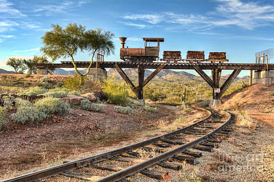 Under The Mining Cars Art Print