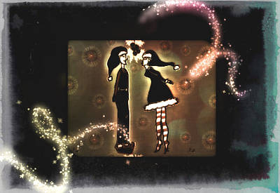 Digital Art - Under The Mistletoe by Sherry Flaker