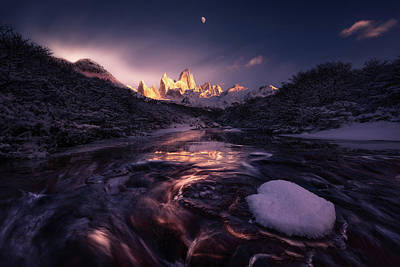 Mountain Stream Wall Art - Photograph - Under The Moon by Simon Roppel