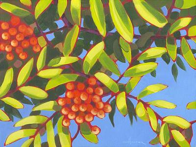 Painting - Under The Mountain Ash 1 by Larry Hunter