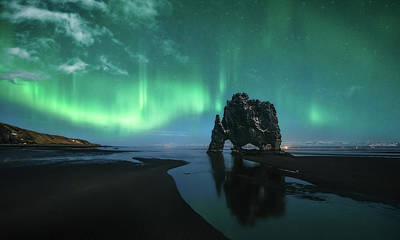 Arch Photograph - Under The Northern Lights by Javier De La