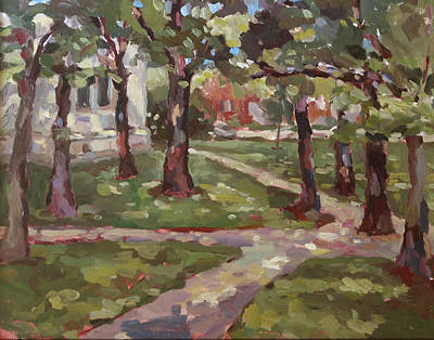 Under The Oaks Art Print by Jenny Anderson