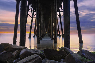 San Diego Photograph - Under The Oceanside Pier by Larry Marshall