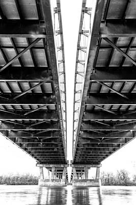 Creve Coeur Park Photograph - Under The Page Bridge by Bill Tiepelman