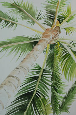Painting - Under The Palm by Teresa Smith