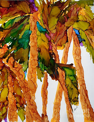 Painting - Under The Palm Tree Grove by Vicki  Housel
