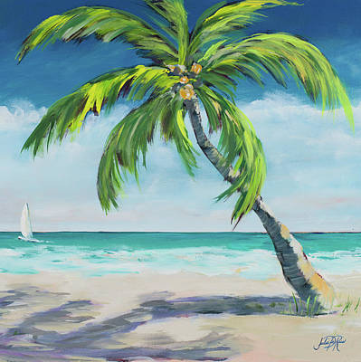 Under The Ocean Painting - Under The Palm's Breeze I by Julie Derice
