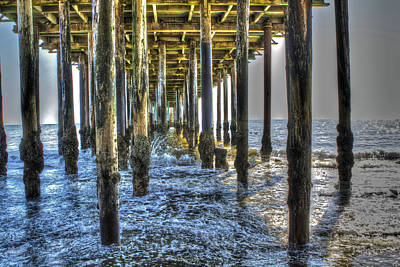 Photograph - Under The Pier 2 by SC Heffner