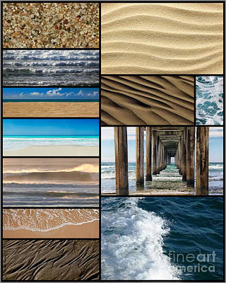 Collage Photograph - Under The Pier Collage by Andrea Cofferen