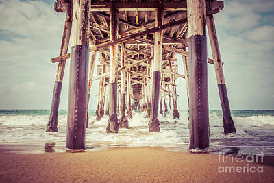 Under The Pier In Orange County California Picture Art Print by Paul Velgos