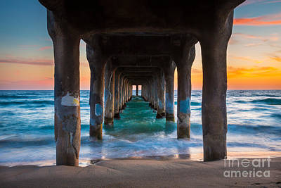 California Ocean Photograph - Under The Pier by Inge Johnsson