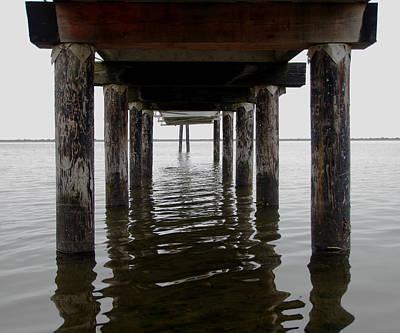 Esquimalt Photograph - Under The Pier by Marilyn Wilson